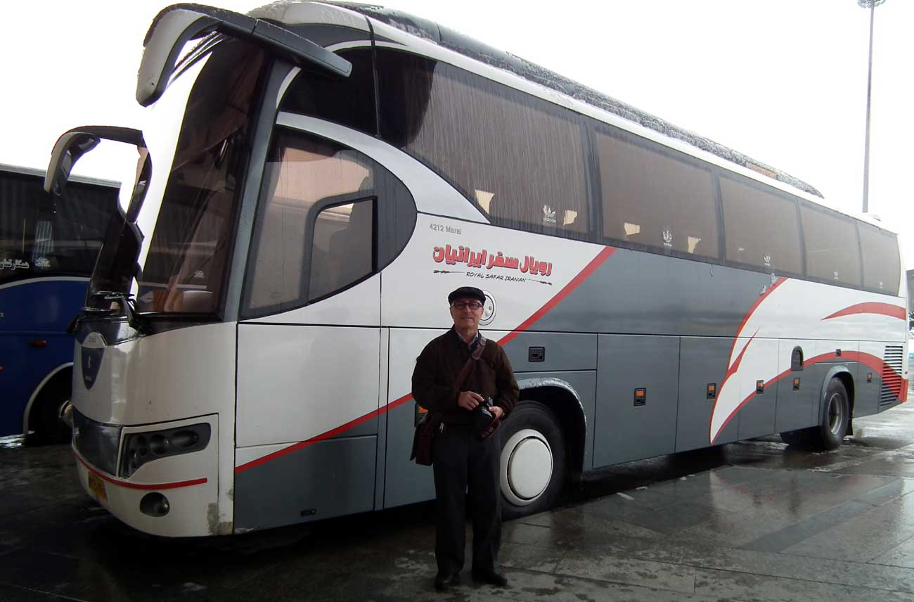 My bus out of Ardabil
