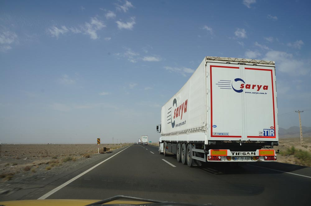 Turkish truck on the Silk Road to Europe