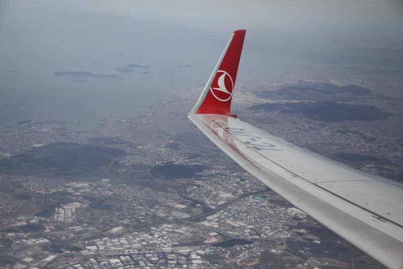Flying out of Istanbul