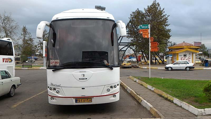 Bus from Rasht to Zanjan